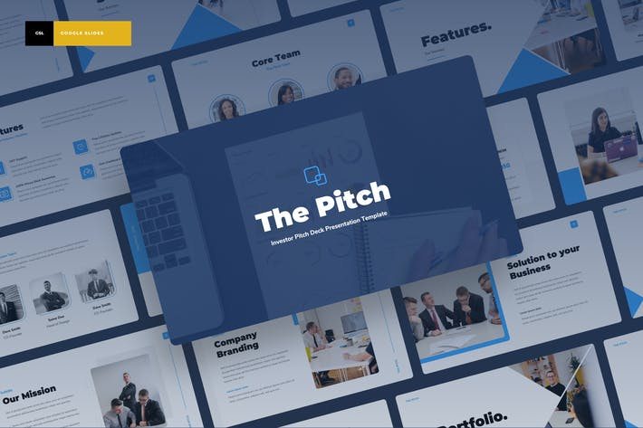Thumbnail for Theitch - Инвестор Pitch Deck Google Слайды