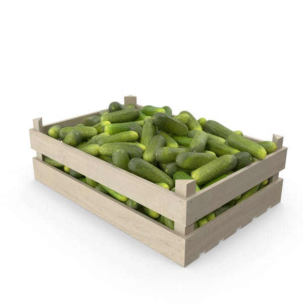 Thumbnail for Cucumbers Gherkin in Wooden Crate