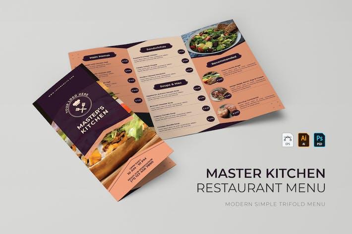 Master Kitchen | Restaurant Menu