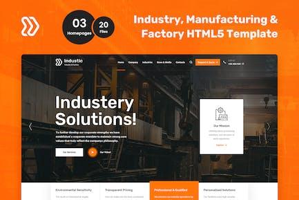 HTML5-Vorlage für Industische Fabrik und Fertigung