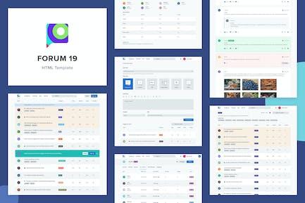 Forum 19 - HTML Template