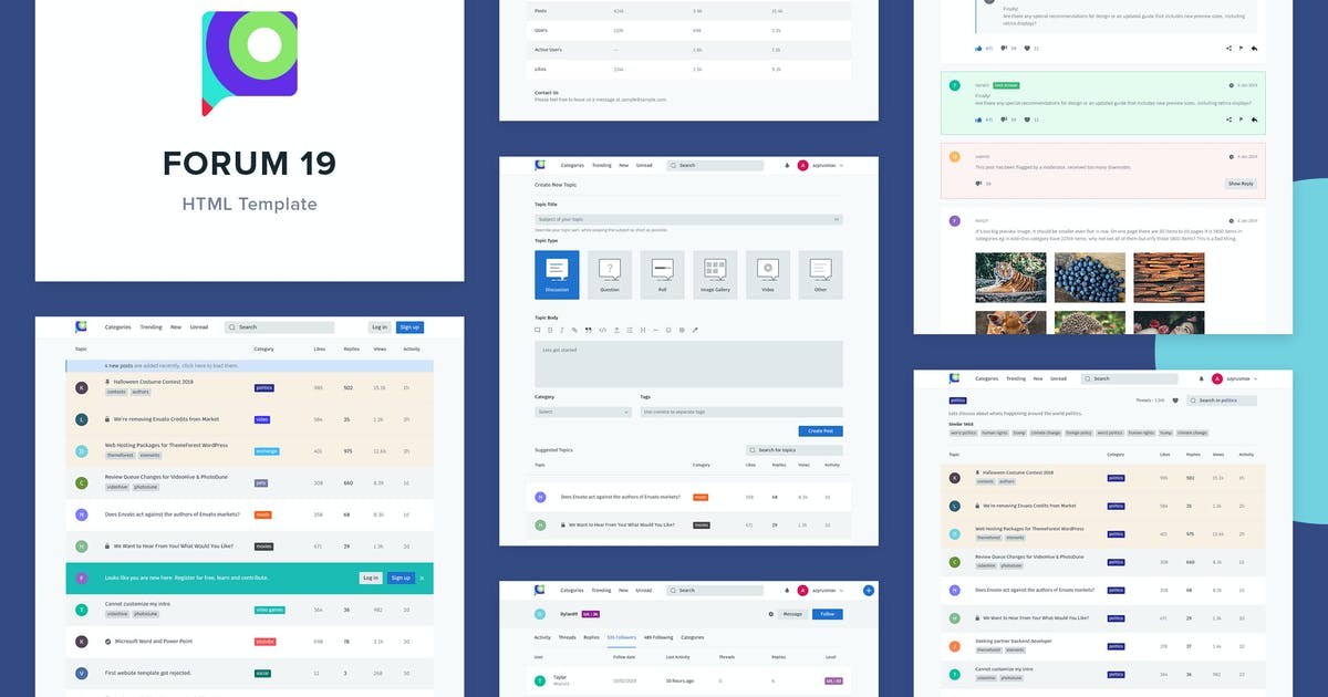 Download Forum 19 - HTML Template by azyrusmax