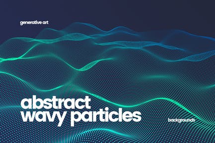 Wavy Particles Backgrounds