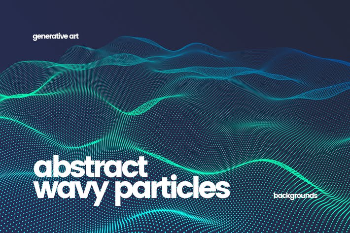 Cover Image For Wavy Particles Backgrounds