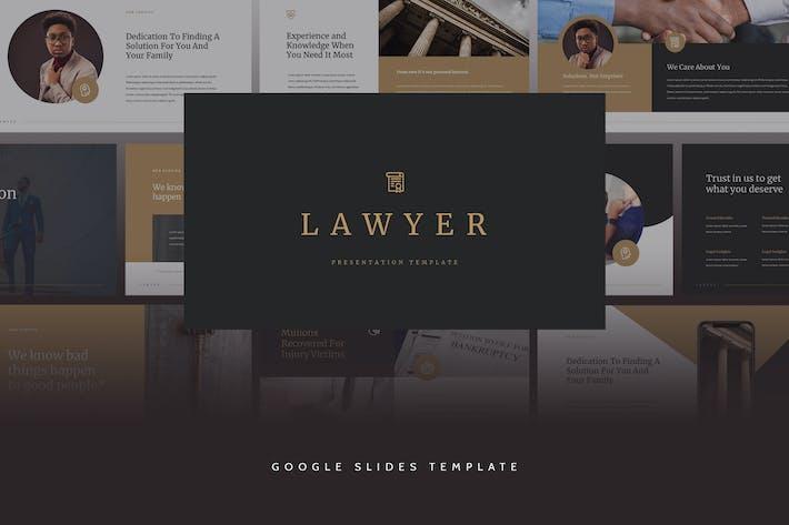 Thumbnail for Lawyer - Elegant CV Google Slides Template