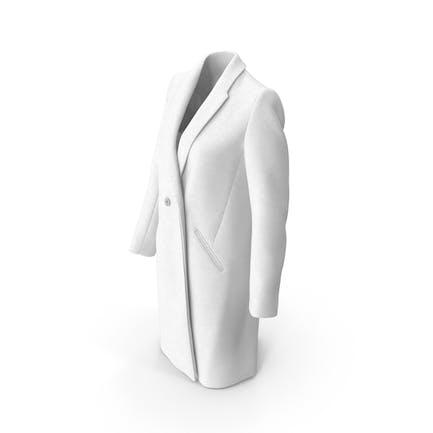 Damen Mantel Weiss