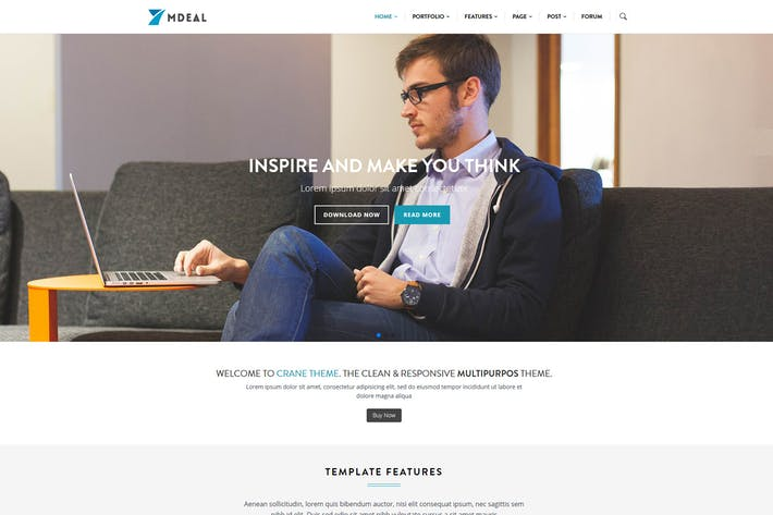 Thumbnail for Mdeal - Responsive Business Drupal Theme