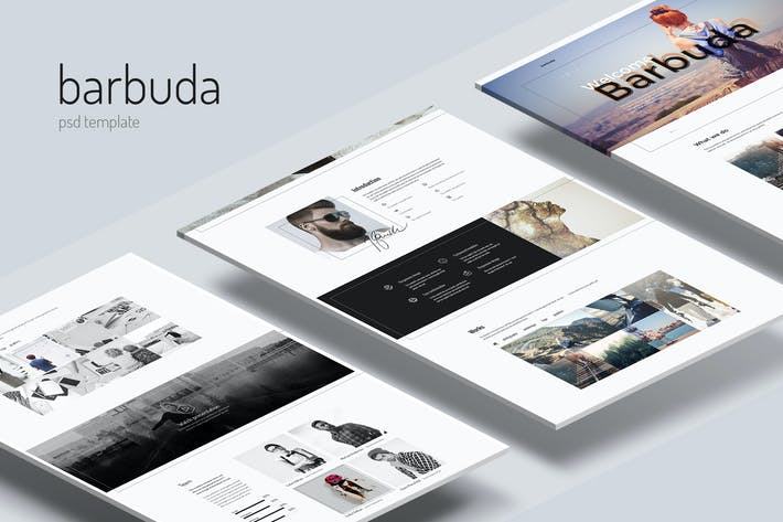 Thumbnail for Barbuda — Multipurpose  Personal Blog PSD Template
