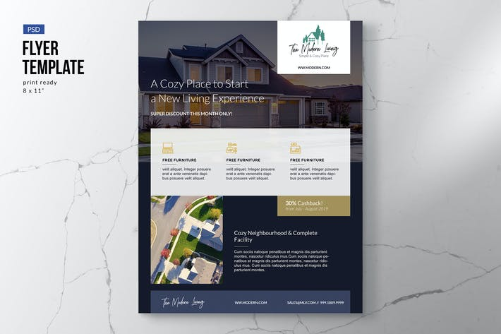Thumbnail for Elegant Property Flyer Template