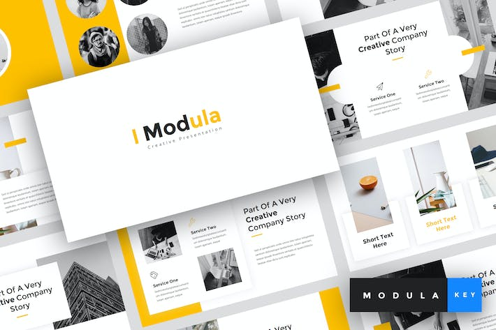 Thumbnail for Modula - Creative Keynote Template