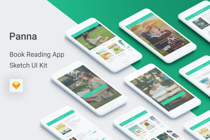 Thumbnail for Panna - Book Reading UI Kit for Sketch