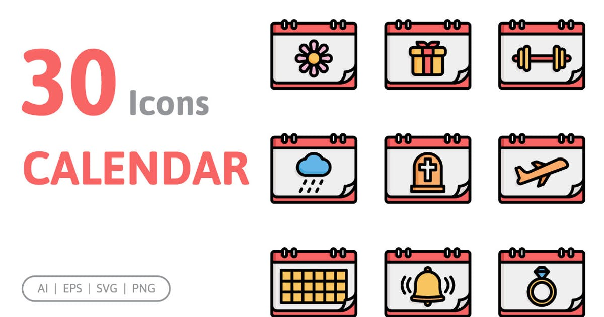 Download 30 Calendar Icons by konkapp