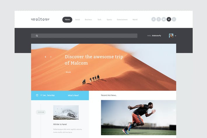 Thumbnail for Voltov - Blog and Magzine HTML Template