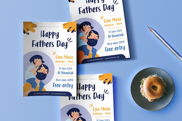 Thumbnail for Father's Day Flyer Design