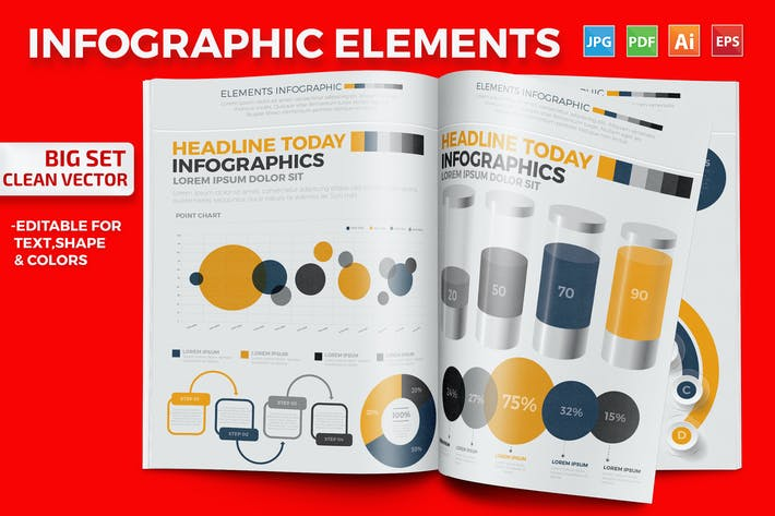 Thumbnail for Infographics Elements