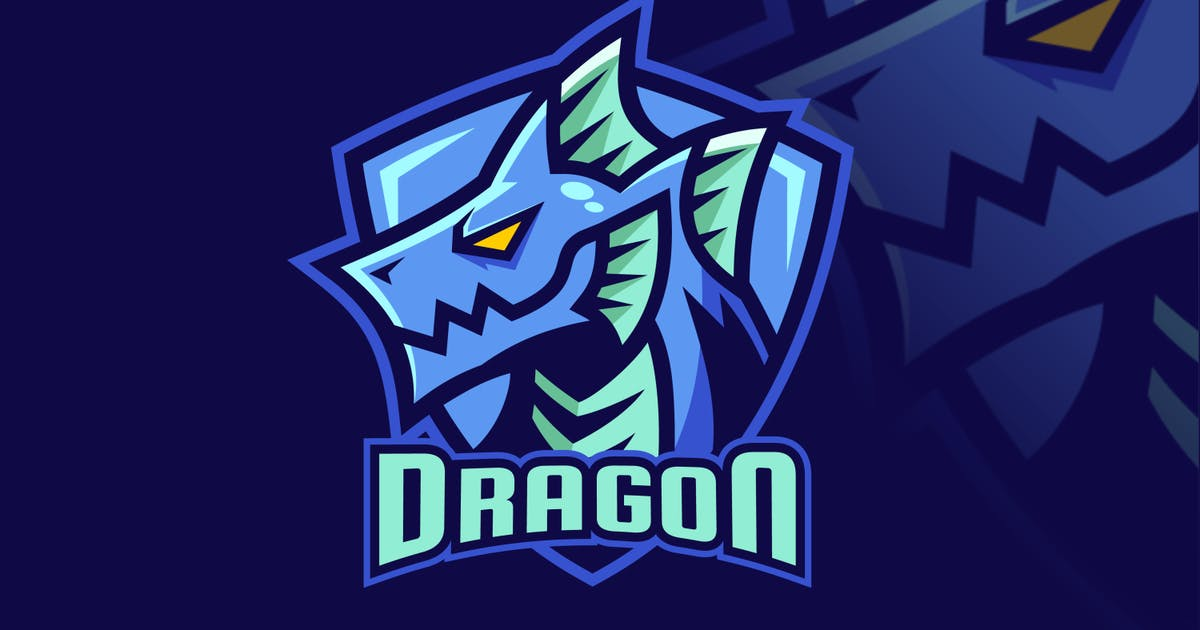 Download Water Element Dragon Fantasy Logo Design by Rexcanor