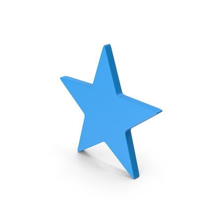 Symbol Star Blue