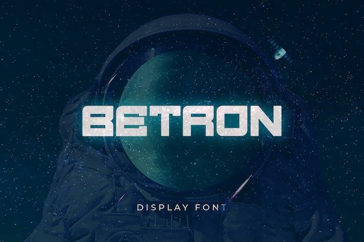 Thumbnail for BETRON - DISPLAY FONT