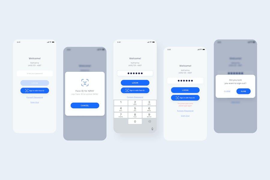 Re-Login - Wallet Mobile UI - N