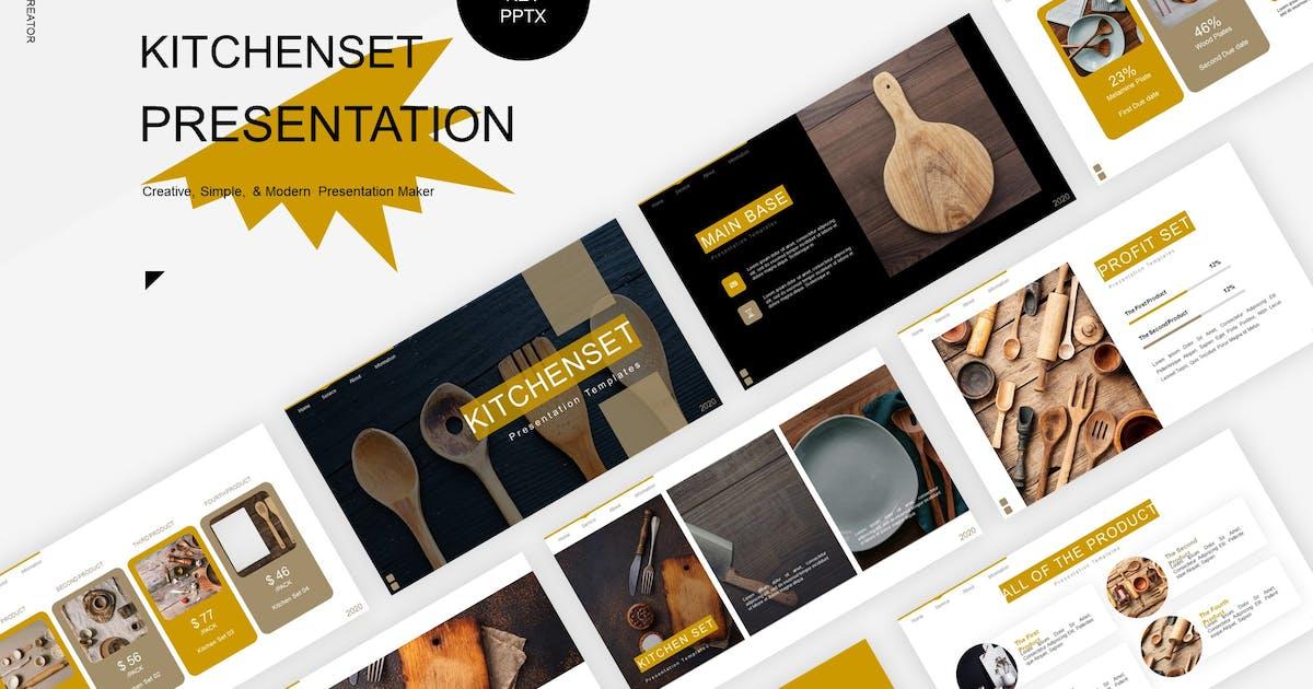 Download Kitchenset  Presentation Template by Fannanstudio