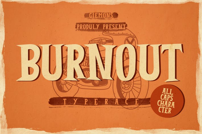 Thumbnail for Шрифт Burnout