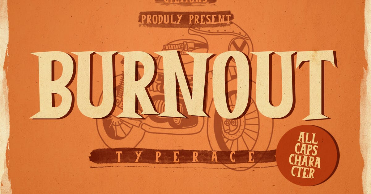 Download Burnout Font by giemons