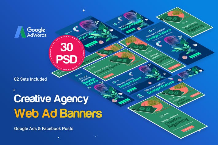 Cover Image For Creative Agency, Startup Banners Ad