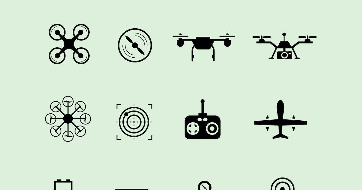 Download 12 Drone Icons by creativevip