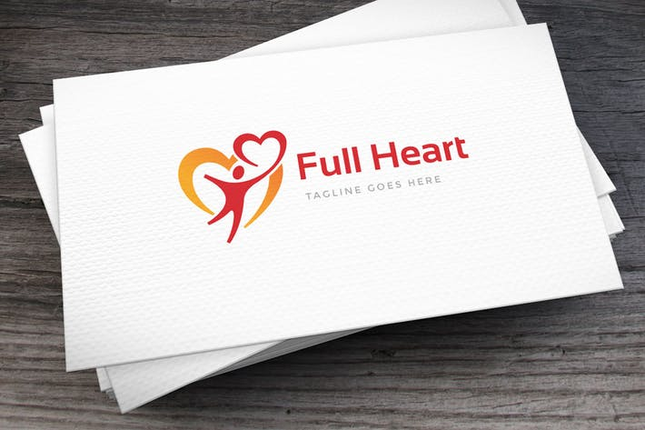 Thumbnail for With Heart Logo Template