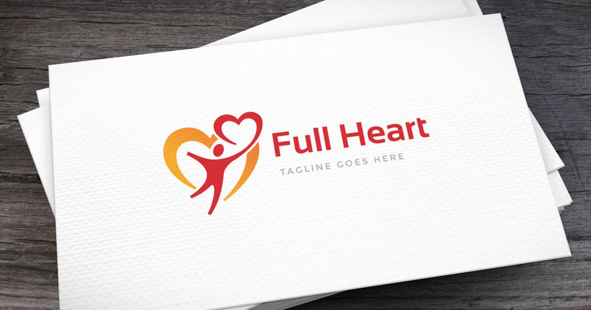 Download With Heart Logo Template by Unknow