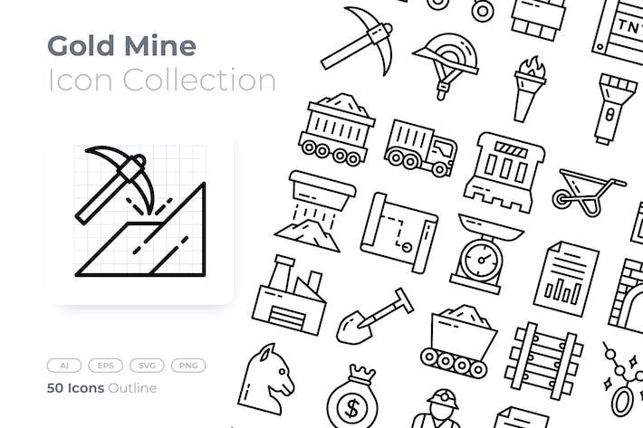 Thumbnail for Icône Mine d'or