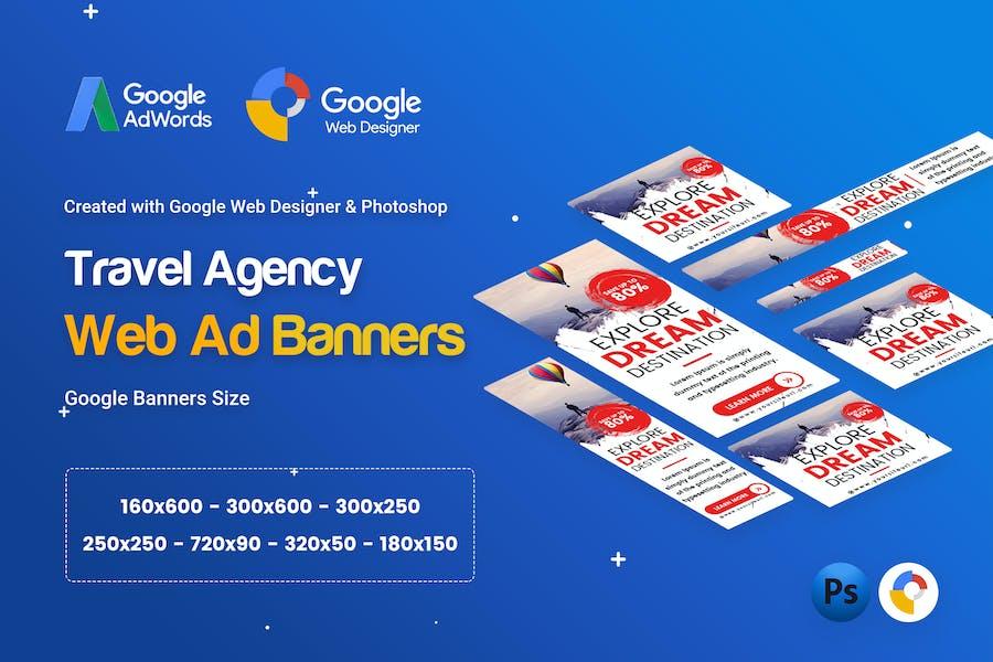 Travel Agency Banner Ad - GWD & PSD