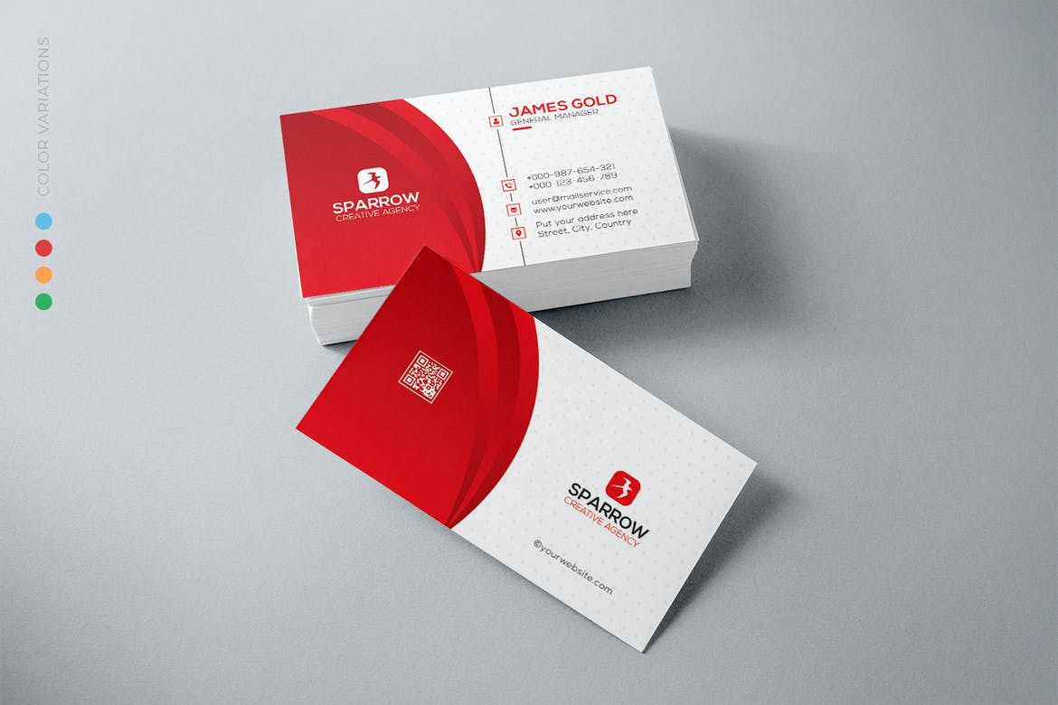 Red-Wave-Business-Card