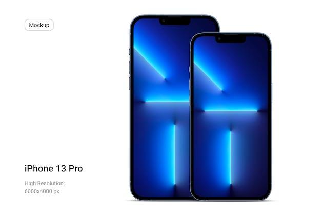 iPhone 13 Pro Flat Mockup