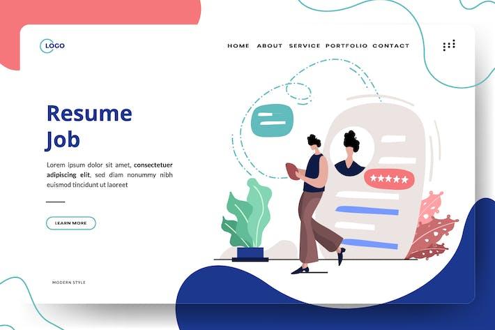 Thumbnail for Resume Job Illustration