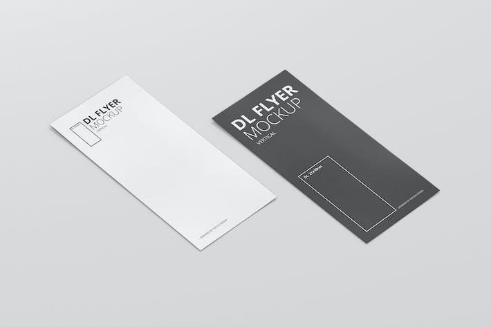 dl vertical flyer mockup by visconbiz on envato elements