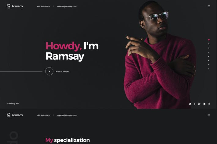 Cover Image For Ramsay - Personal Onepage HTML Template