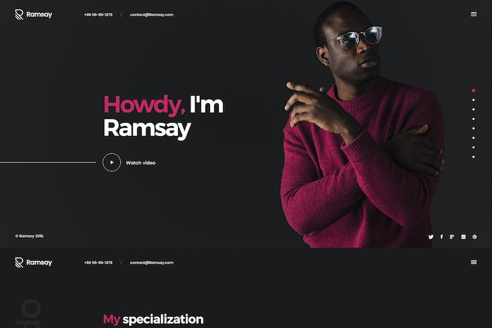Thumbnail for Ramsay - Personal Onepage HTML Template