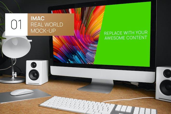 Thumbnail for Modern Desk iMac Real World Mock-up