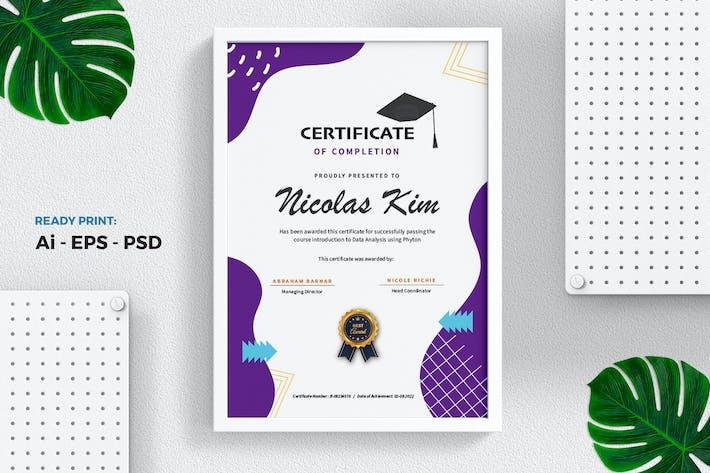 Thumbnail for Professional Purple Certificate/Modèle de Diplôme