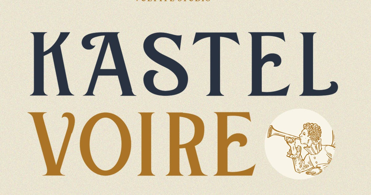 Download Kastel Voire - Display Font by vultype