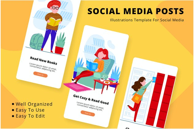 Read Book Social Media Template - product preview 0