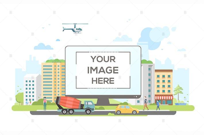 Thumbnail for City life - flat design style illustration