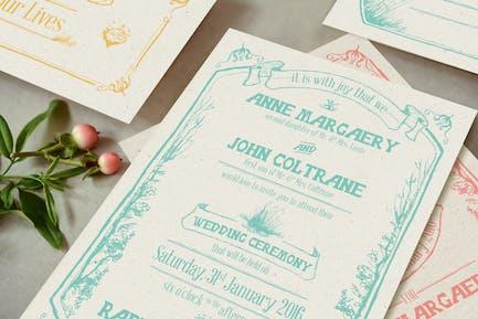 Whimsical Forest Wedding Invitation
