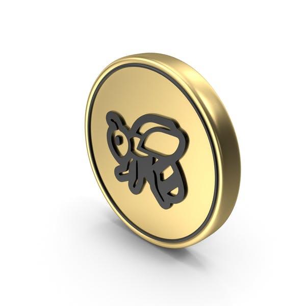 Honigbiene Münze Logo Symbol