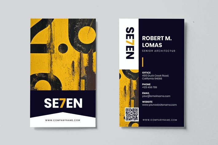 Thumbnail for Minimalist Business Card AI and PSD Vol.06
