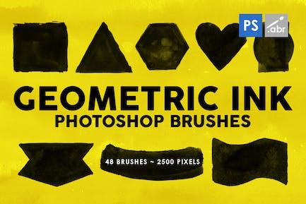 48 Geometric Ink Photoshop Stamp Brushes
