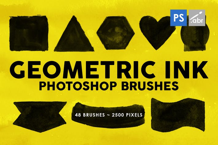 Thumbnail for 48 Geometric Ink Photoshop Stamp Brushes
