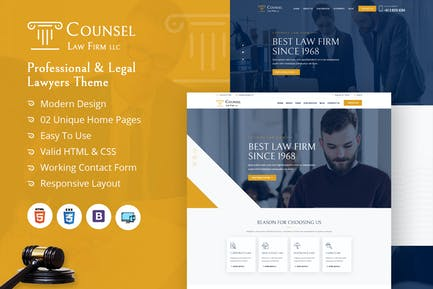 Counsel Law Firm HTML