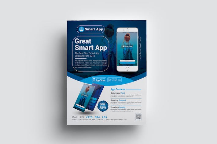 Thumbnail for Mobile App Flyer Template